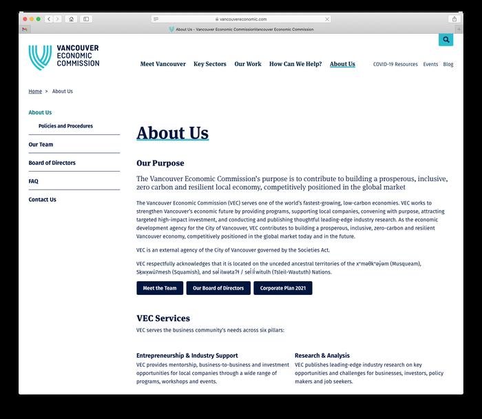 Vancouver Economic Commission website 7
