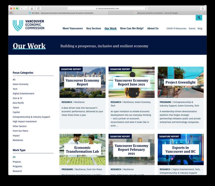 Vancouver Economic Commission website 6