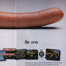 <cite>Cruis'n World</cite> video game print ad