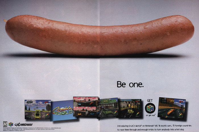 The full 2-page spread of the magazine print ad.