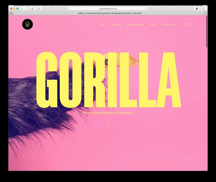Gorilla Studio visual identity 1