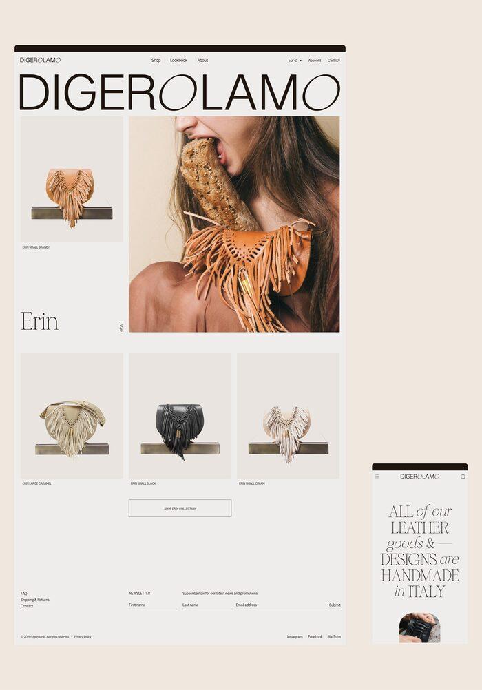 Digerolamo visual identity & website 3