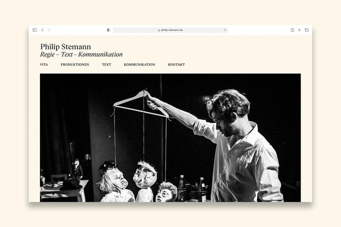 Philip Stemann portfolio website 2