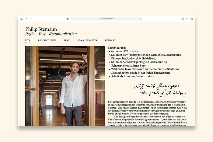 Philip Stemann portfolio website 3