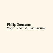 Philip Stemann portfolio website