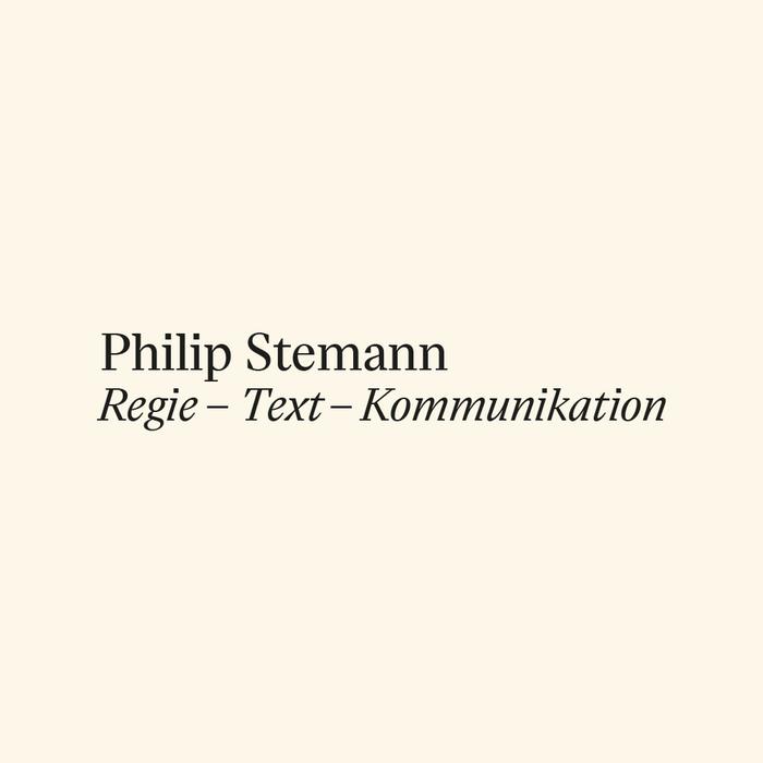 Philip Stemann portfolio website 1