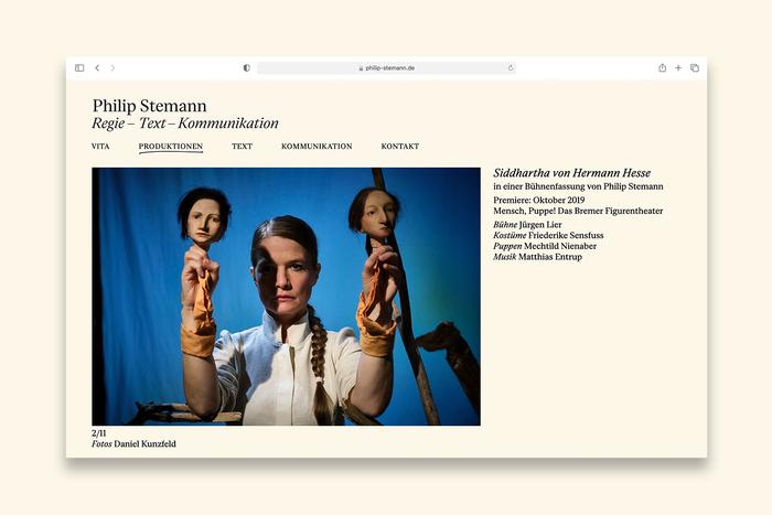Philip Stemann portfolio website 6