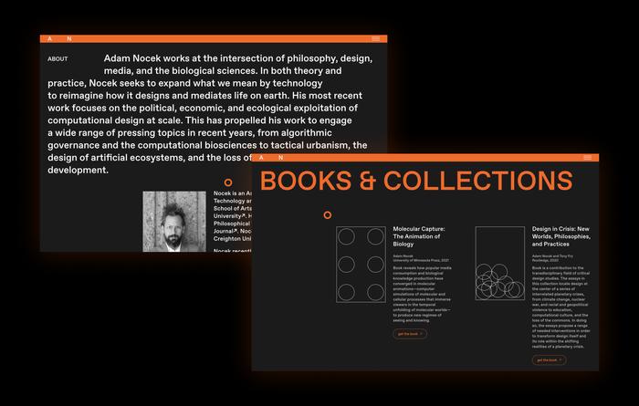 Adam Nocek website 2