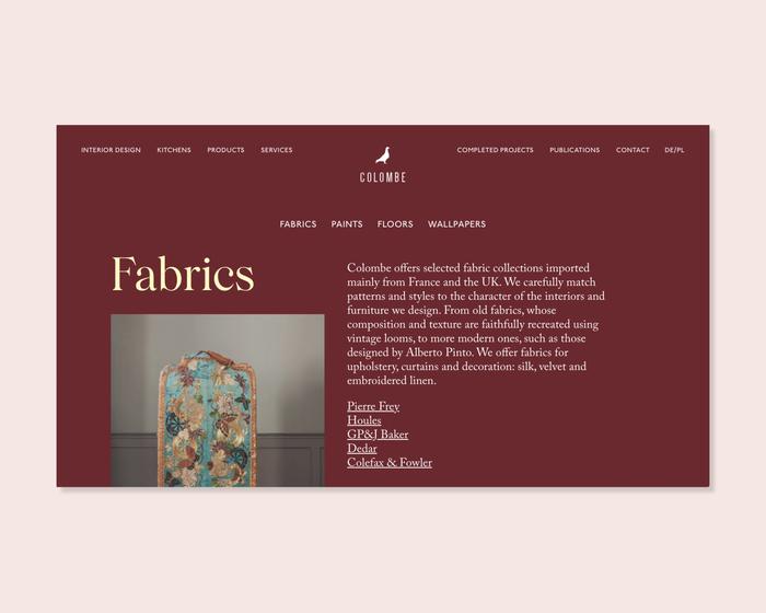 Colombe website 4