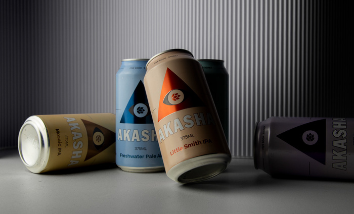 Akasha Brewing beer can series 1