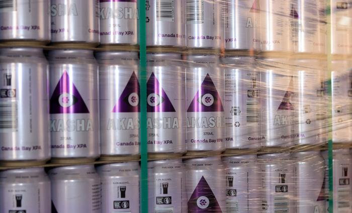Akasha Brewing beer can series 2