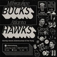 Bucks vs Hawks fan art