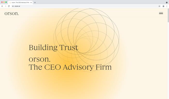 Orson website 1