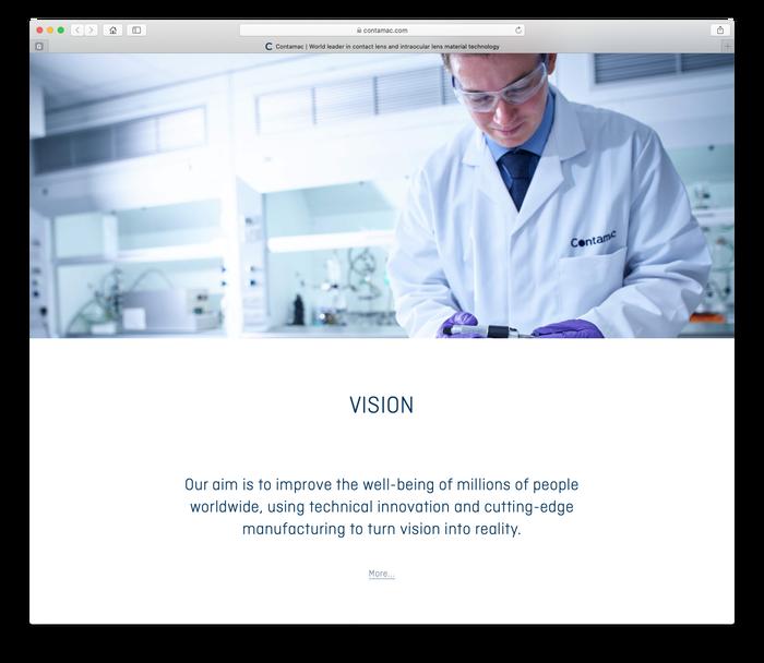 Contamac website 3
