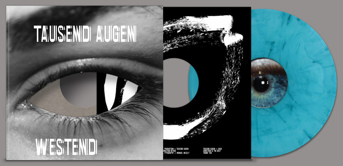"""LP cover, """"dark"""" inner sleeve and turquoise colored vinyl"""