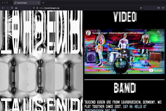 The Tausend Augen website