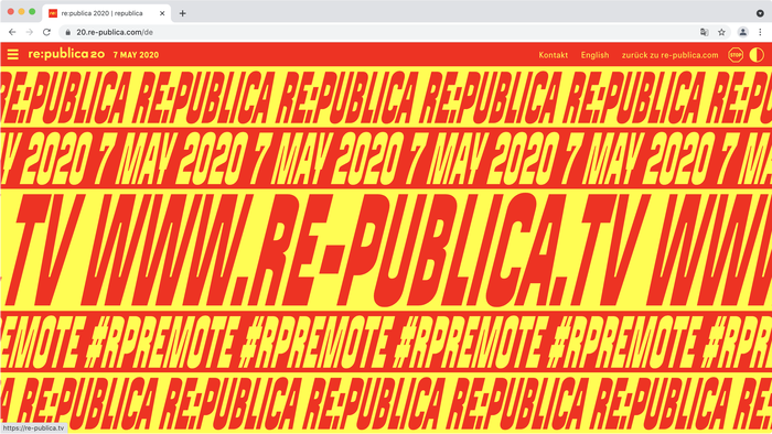 Website advertising the remote conference (#rpRemote) on 7 May 2020. It was one of the first online conferences of this scope in Germany, with tens of thousands participants.