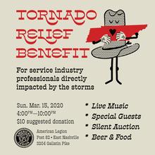 Tornado Relief Benefit poster