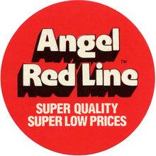 Angel Red Line sticker