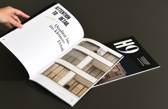 Product brochure: 48 pages printed on uncoated paper, perfect bound.