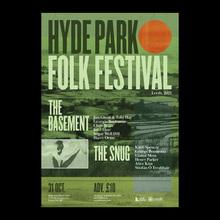Hyde Park Folk Festival 2021 poster