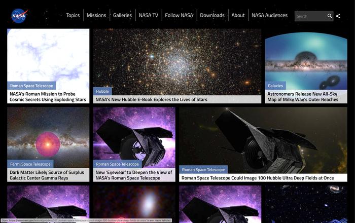 NASA website 2
