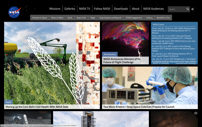 Home page.
