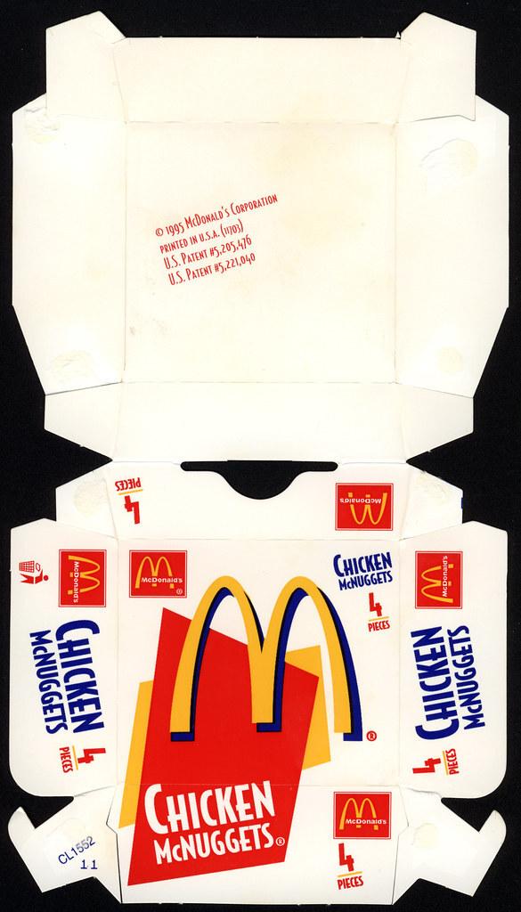 McDonald's Chicken McNuggets 4-pieces box, 1995.