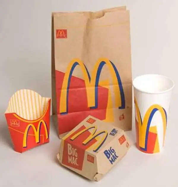 McDonald's food packaging used between 1995 and 2003.