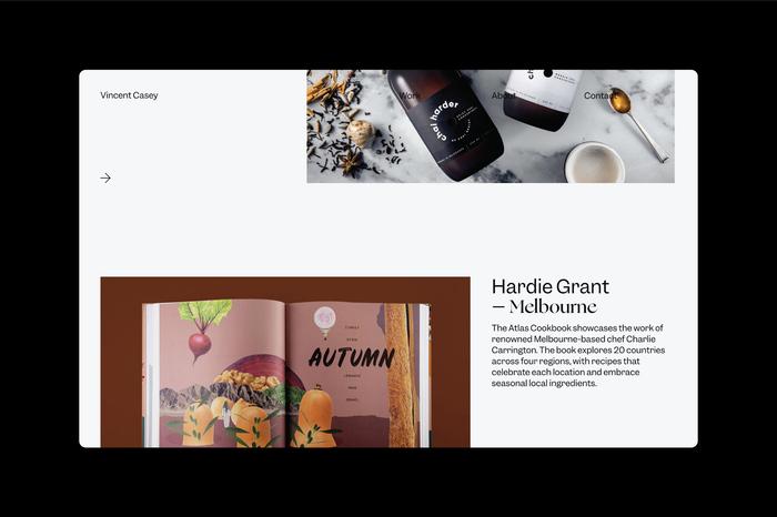 Vincent Casey portfolio website 2
