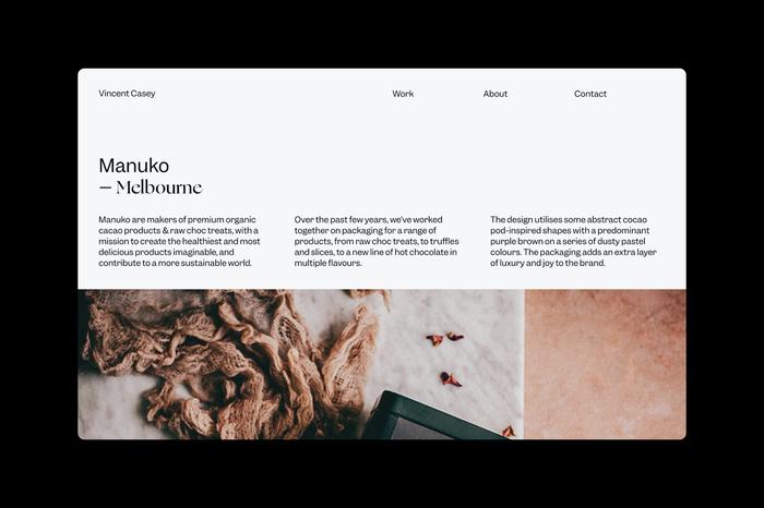 Vincent Casey portfolio website 4