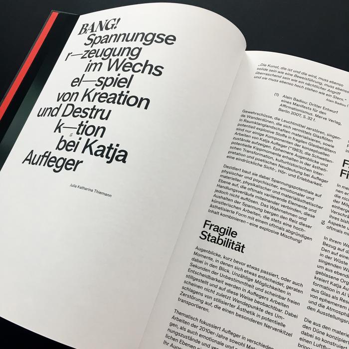 Schwindelerregende Höhen. Katja Aufleger exhibition catalog 2