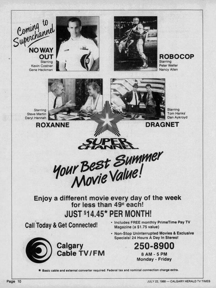 Superchannel newspaper ad (1988) 1