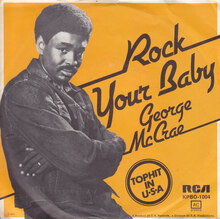 """George McCrae – """"Rock Your Baby"""" German single cover"""