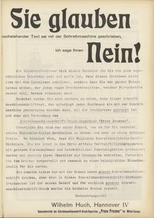 Proco Prozess ad by Wilhelm Huch (1907)