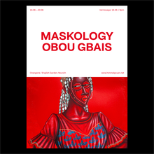 <cite>Obou Gbais: Maskology</cite> exhibition poster