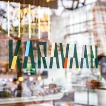 Karavaan cafe bar identity