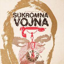 <cite>Súkromná vojna</cite> (1977) Czechoslovak movie poster