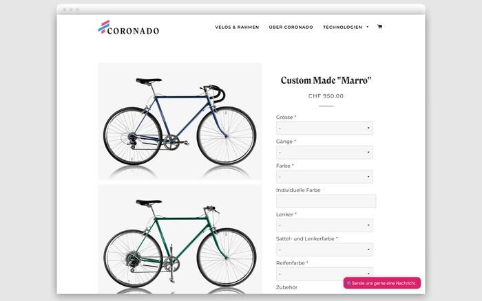Coronado Bike branding and website 3