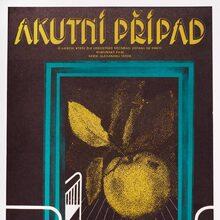 <cite>Akutní případ</cite> (1975) Czechoslovak movie poster