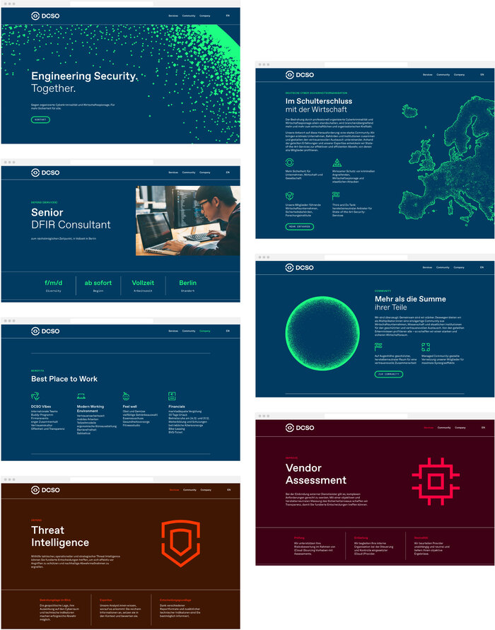 German Cyber Security Organization brand identity 8