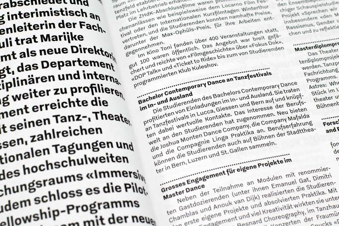 Zurich University of the Arts annual report 2019 10