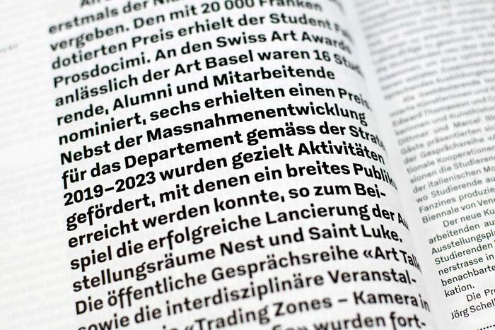 Zurich University of the Arts annual report 2019 12