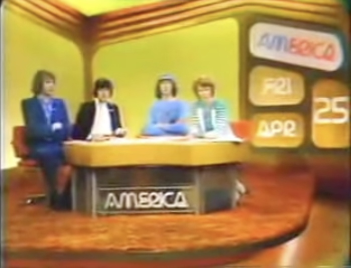 AM America on Friday, April 25, 1975, with Monthy Python as guests in the studio.