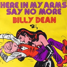 """Billy Dean – """"Here In My Arms"""" / """"Say No More"""" French single cover"""