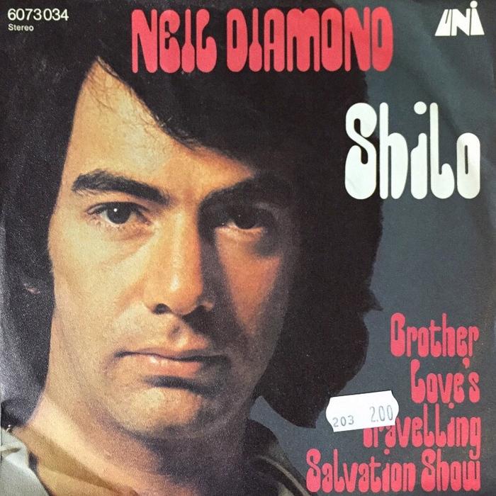 "Neil Diamond – ""Shilo"" German single cover"