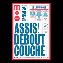Festival Assis! Debout! Couché! poster