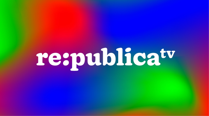 Logo for re:publica TV, in Doyle Bold.