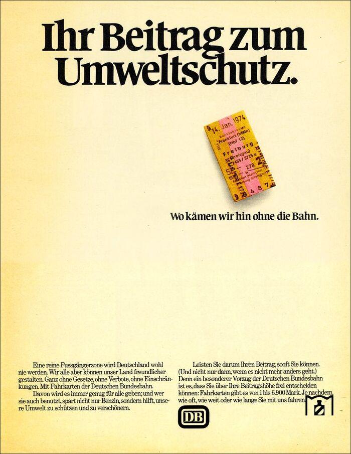 """""""Ihr Beitrag zum Umweltschutz."""" (1974)"""