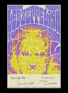 Baldassarre Presents: <cite>Led Zeppelin II</cite> concert poster